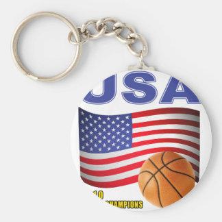 El mundo del baloncesto de los E.E.U.U. defiende 2 Llavero Redondo Tipo Pin