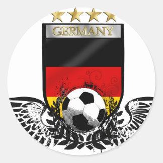 El mundo del fútbol de Alemania defiende Weltmeist Pegatinas Redondas