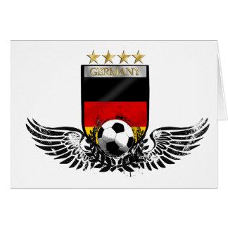 El mundo del fútbol de Alemania defiende Weltmeist Felicitaciones