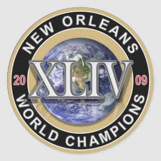 El mundo del fútbol de New Orleans defiende a 2009 Pegatina Redonda