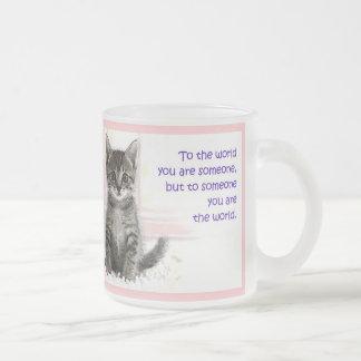 El mundo del gatito tazas de café