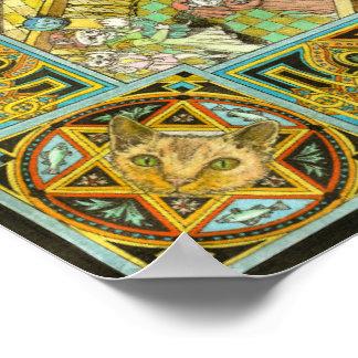 El mundo del gato del ejemplo de los gatos cría el póster