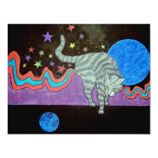 El mundo del gato invitación 10,8 x 13,9 cm