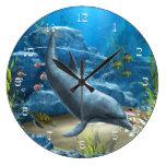 El mundo del reloj de pared del delfín