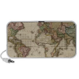 El mundo en la proyección de Mercator iPod Altavoz