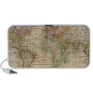 El mundo en la proyección de Mercator Laptop Altavoz