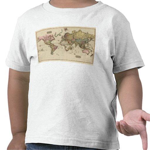 El mundo en la proyección de Mercator Camisetas