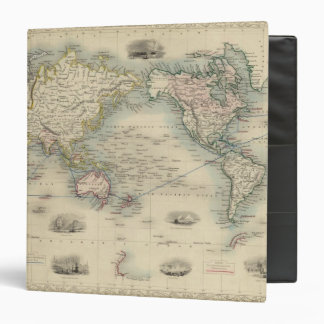 """El mundo en la proyección de Mercator Carpeta 1 1/2"""""""