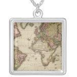 El mundo en la proyección de Mercator Colgante Cuadrado