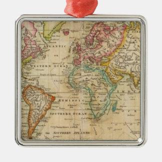 El mundo en la proyección de Mercator Ornamento Para Reyes Magos