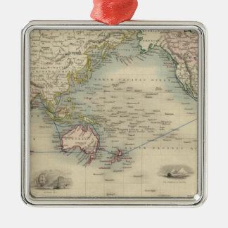 El mundo en la proyección de Mercator Adornos De Navidad