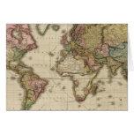El mundo en la proyección de Mercator Felicitación