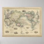 El mundo en la proyección de Mercator Póster