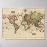 El mundo en la proyección de Mercator Posters