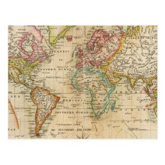 El mundo en la proyección de Mercator Tarjetas Postales