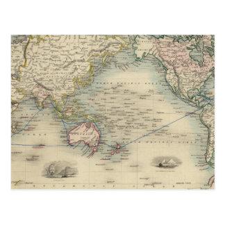 El mundo en la proyección de Mercator Tarjeta Postal