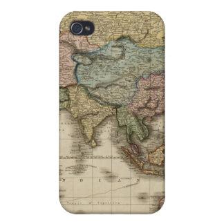 El mundo en la proyección de Mercator, zona orient iPhone 4 Funda