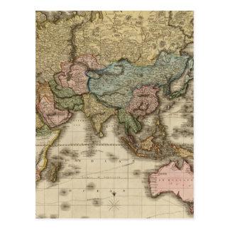 El mundo en la proyección de Mercator, zona Postal