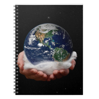 El mundo en su cuaderno de las manos