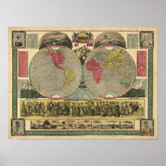 El mundo en una visión póster