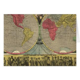 El mundo en una visión tarjeta de felicitación