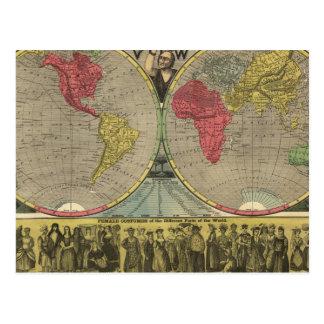 El mundo en una visión tarjetas postales