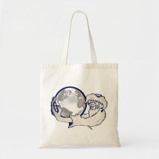 el mundo entero en una mano de los monos bolsa lienzo
