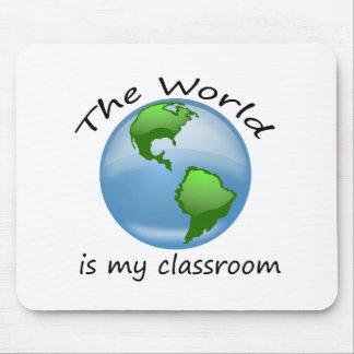 El mundo es cojín de ratón de la sala de clase tapetes de ratón