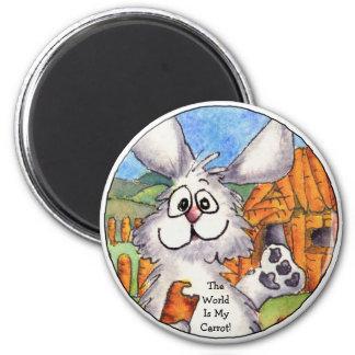 El mundo es mi imán redondo del conejo de la zanah