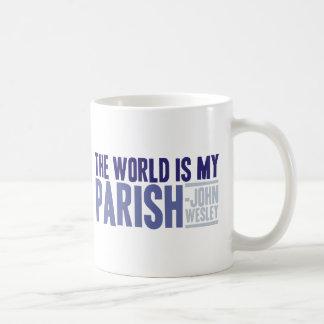 El mundo es mi parroquia tazas