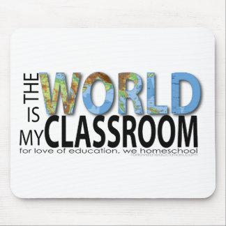El mundo es mi sala de clase tapete de ratón