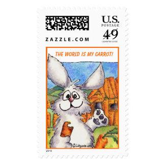 ¡El mundo es mi zanahoria! franqueo de encargo