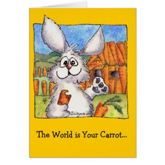 El mundo es su tarjeta de felicitación de la zanah