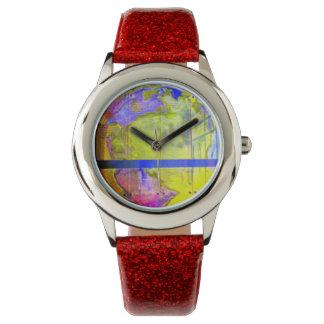 El mundo es un círculo reloj de mano