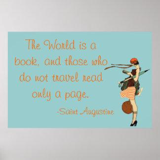 El mundo es un libro póster