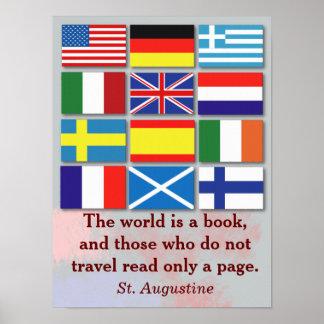 El mundo es un libro - St Augustine Póster