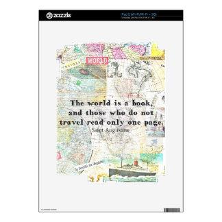 El mundo es una CITA del VIAJE del libro Calcomanías Para iPad 2