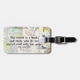 El mundo es una CITA del VIAJE del libro Etiqueta De Equipaje