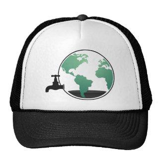 El mundo fuera del aceite gorros bordados