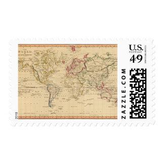 El mundo la proyección de Mercator