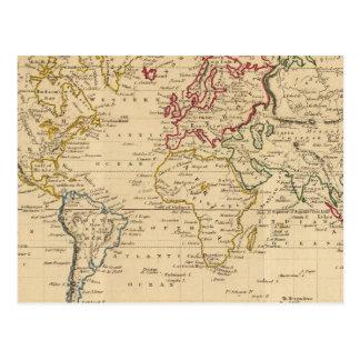 El mundo, la proyección de Mercator Tarjeta Postal