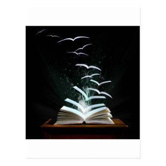 El mundo mágico de la lectura tarjeta postal