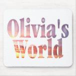 El mundo Mousepad de Olivia Alfombrilla De Ratones