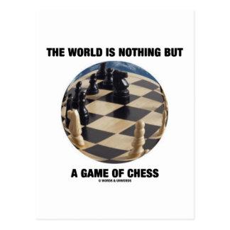 El mundo no es nada sino un juego del ajedrez tarjeta postal