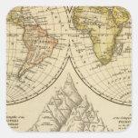 El mundo pegatinas cuadradas