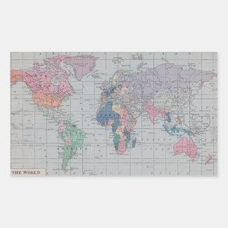 El mundo - pegatinas del mapa del vintage