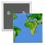 El mundo pin cuadrada 5 cm
