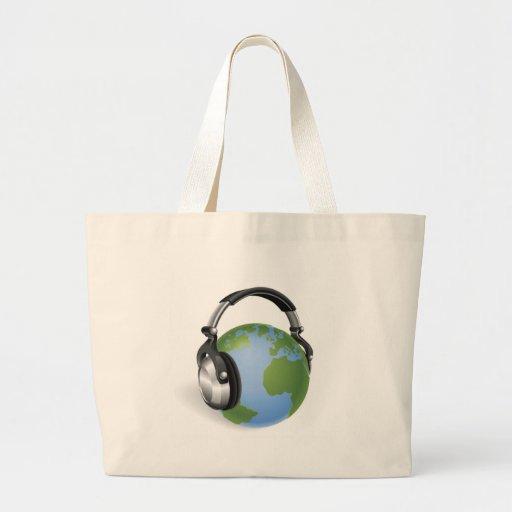 El mundo que escucha bolsas de mano