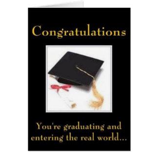 El mundo real tarjeta de felicitación