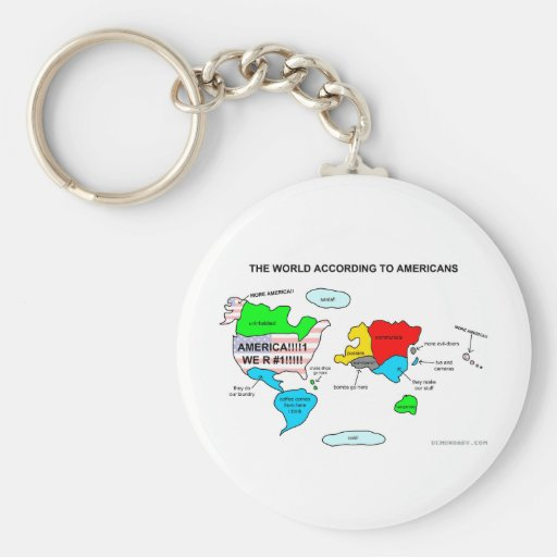 El mundo según americanos llavero